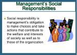 management s social responsibilities