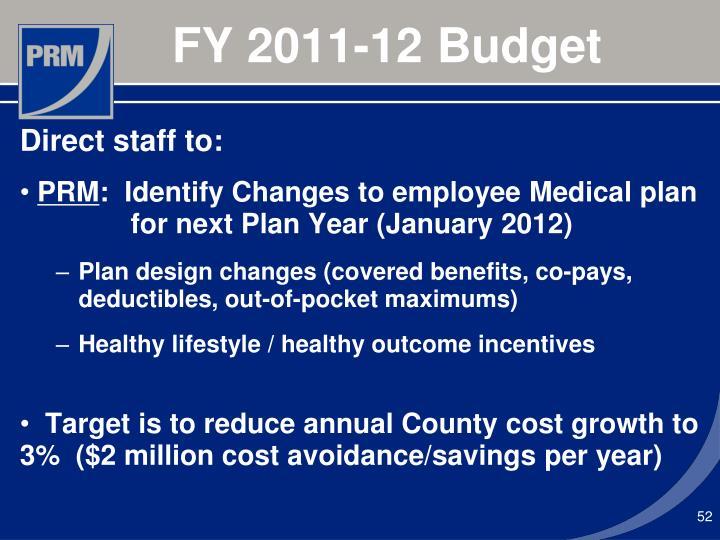 FY 2011-12 Budget