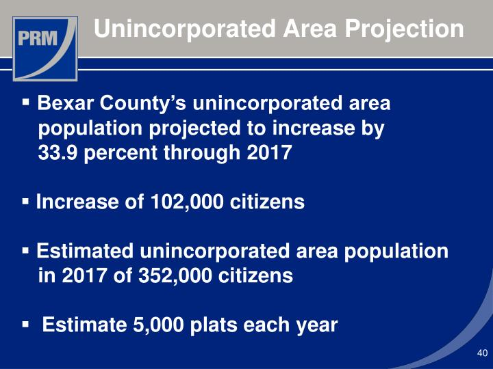 Unincorporated Area Projection