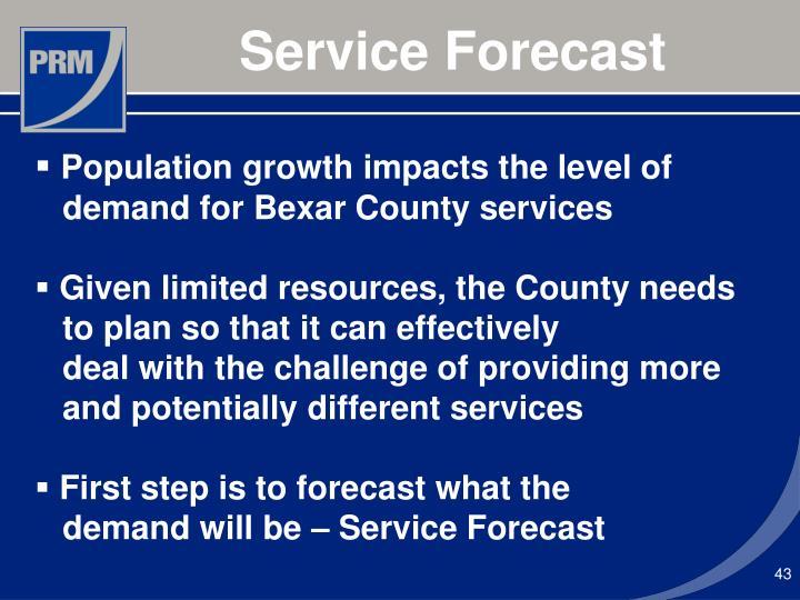 Service Forecast
