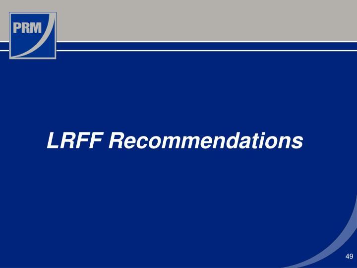 LRFF Recommendations