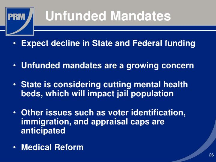 Expect decline in State and Federal funding