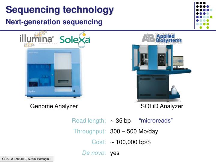 Sequencing technology
