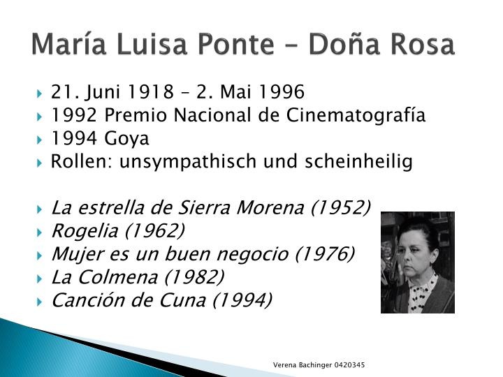 María Luisa Ponte –
