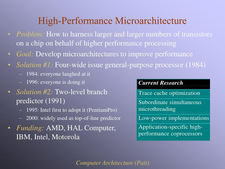 High-Performance Microarchitecture