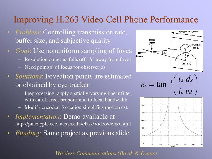 Improving H.263 Video Cell Phone Performance