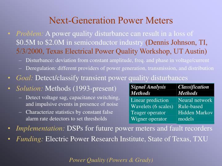 Next-Generation Power Meters