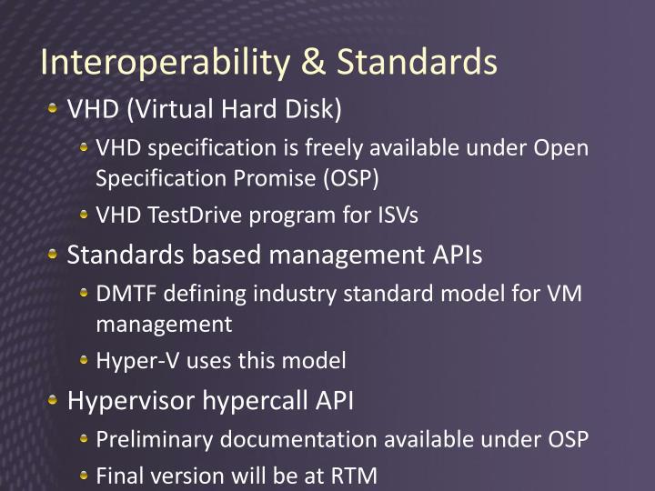 Interoperability & Standards