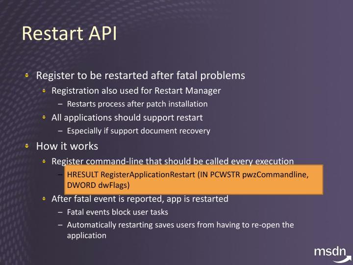 Restart API