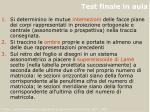 test finale in aula