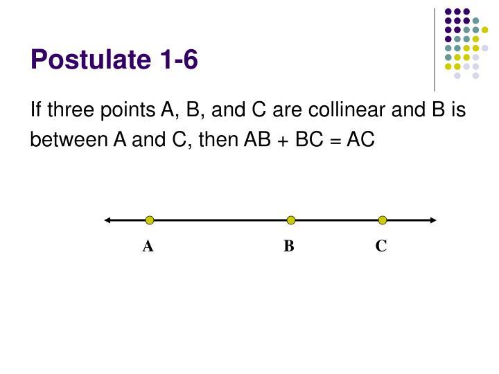 Postulate 1-6
