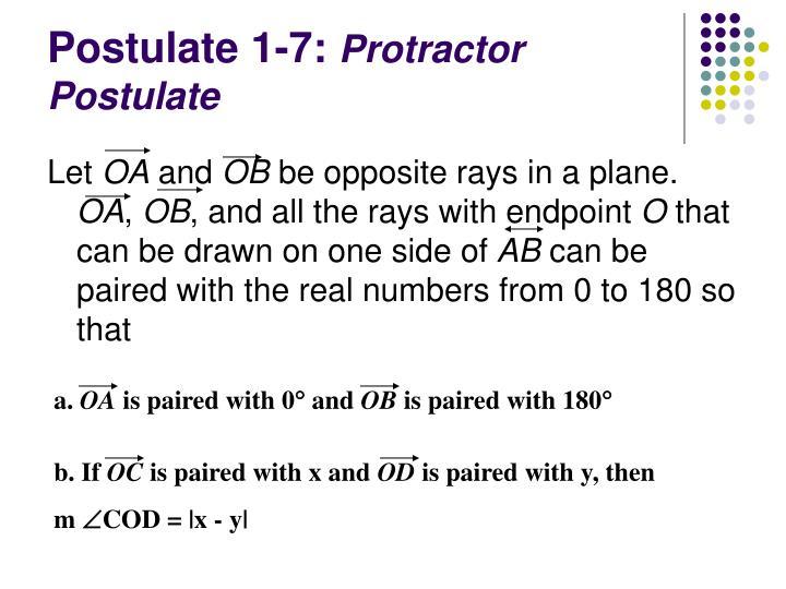 Postulate 1-7: