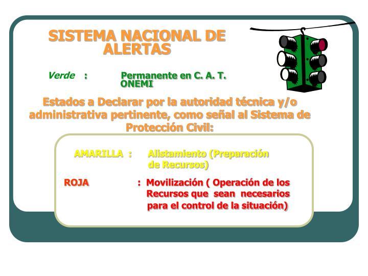 SISTEMA NACIONAL DE ALERTAS