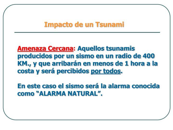 Impacto de un Tsunami