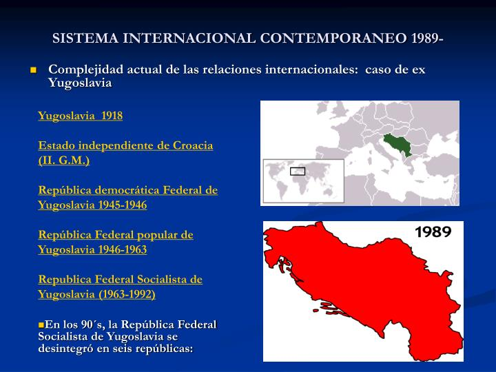 Sistema internacional contemporaneo 1989