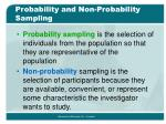 probability and non probability sampling