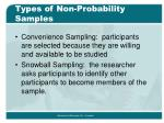 types of non probability samples