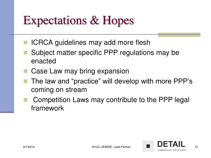 Expectations & Hopes