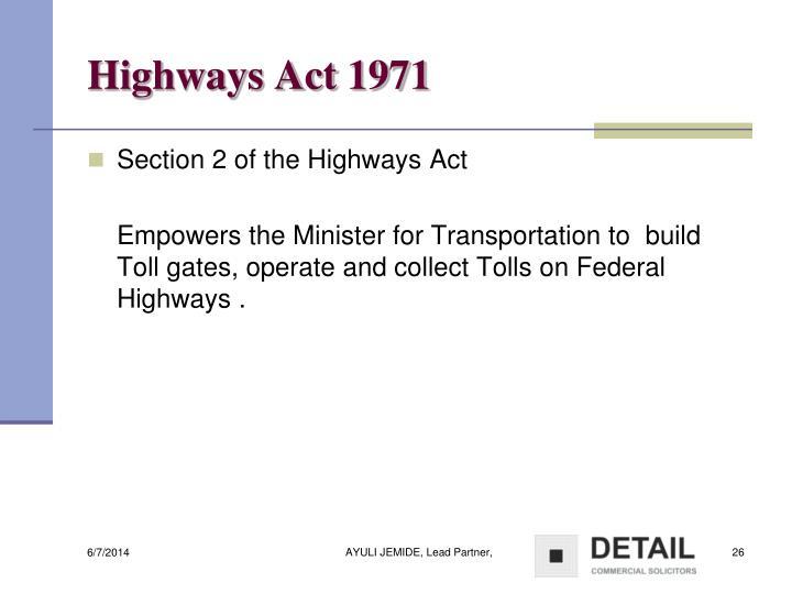 Highways Act 1971