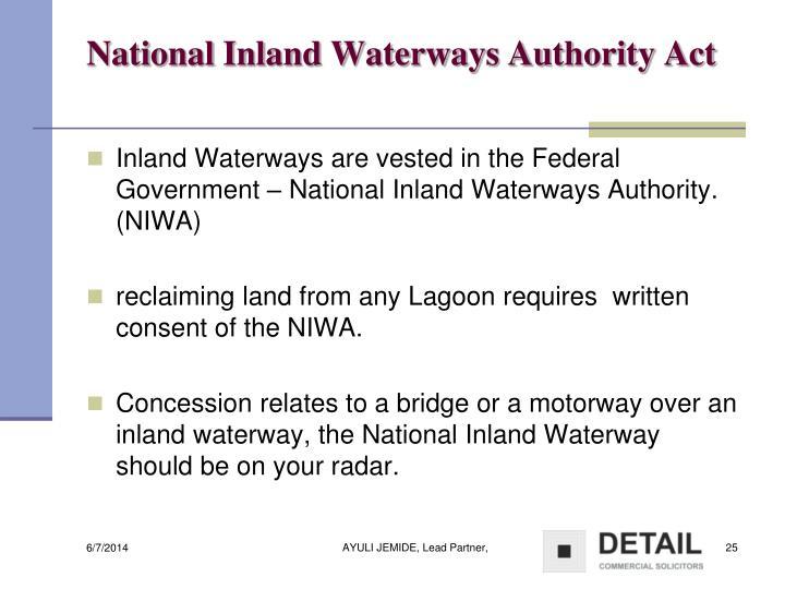 National Inland Waterways Authority Act