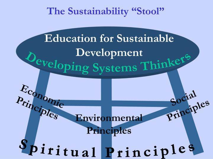 "The Sustainability ""Stool"""