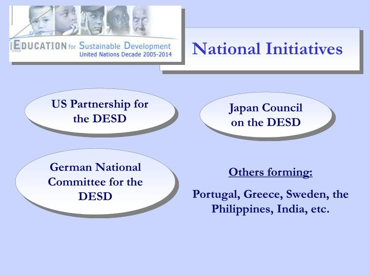 National Initiatives