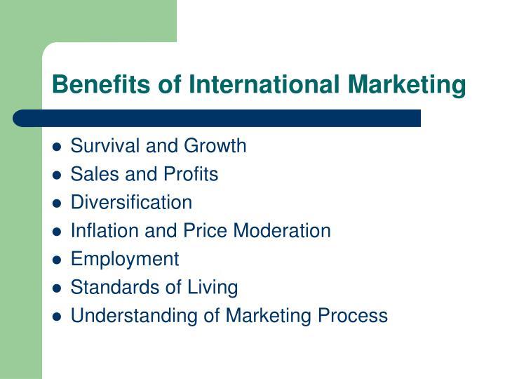 Benefits of International Marketing