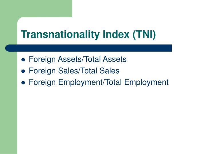Transnationality Index (TNI)