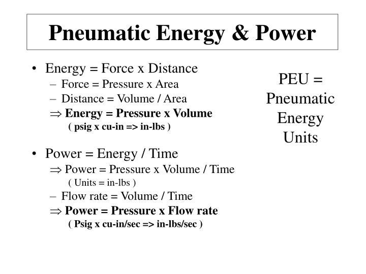 Pneumatic Energy & Power