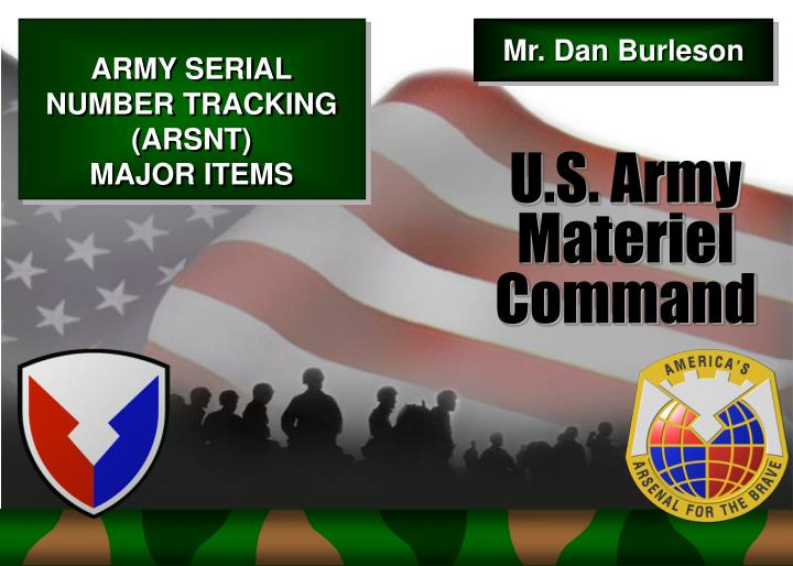 Army serial number tracking arsnt major items