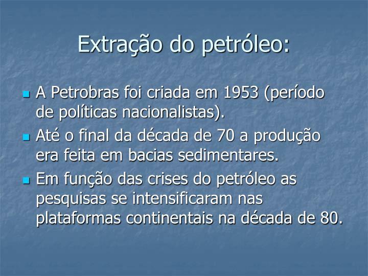 Extração do petróleo: