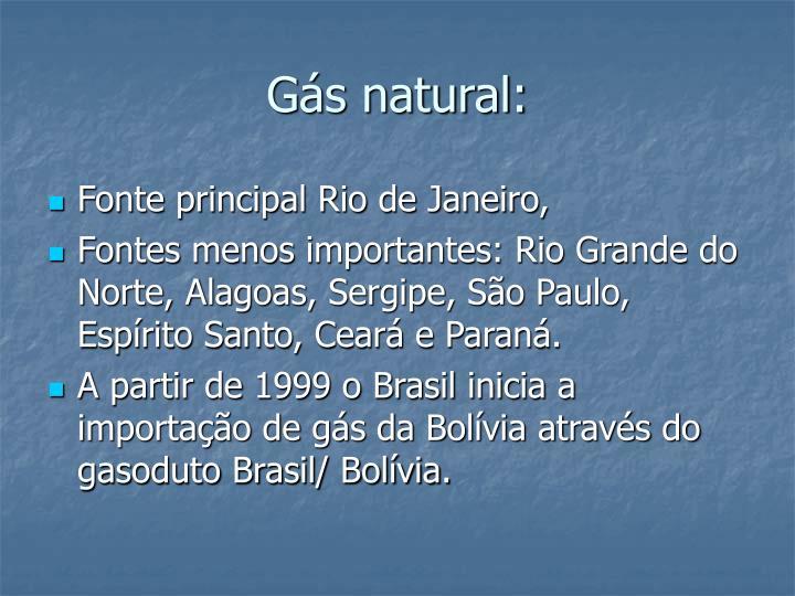 Gás natural: