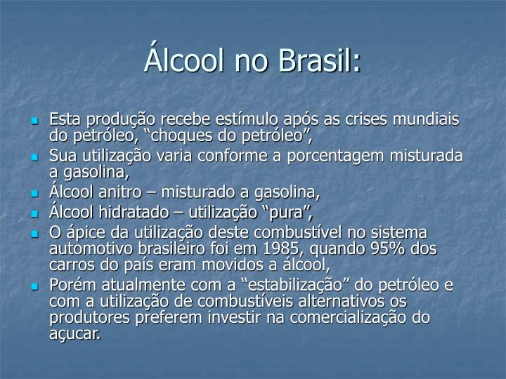 Álcool no Brasil: