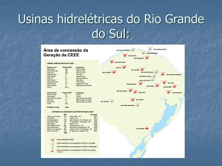 Usinas hidrelétricas do Rio Grande do Sul: