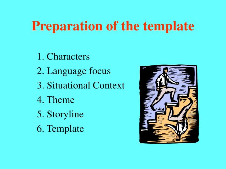 Preparation of the template