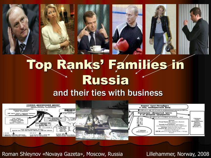 Top ranks families in russia