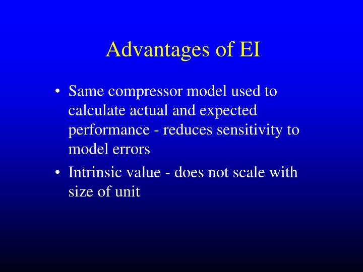 Advantages of EI