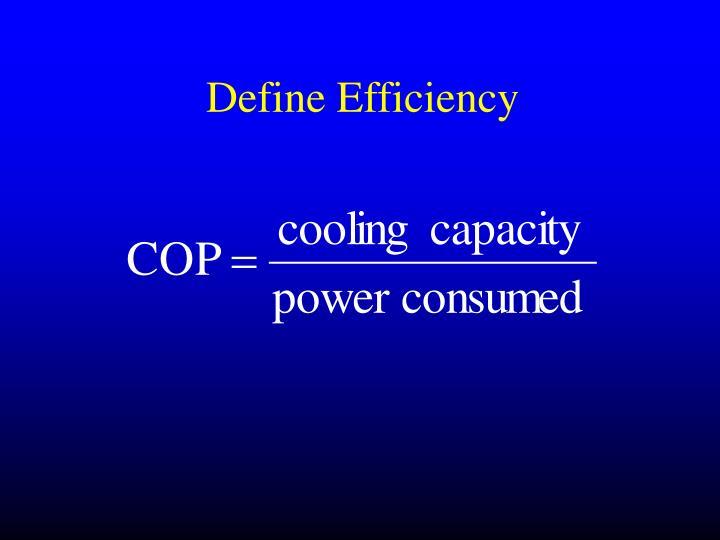 Define Efficiency