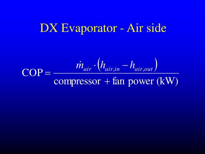 DX Evaporator - Air side