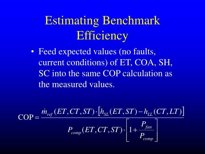 Estimating Benchmark Efficiency