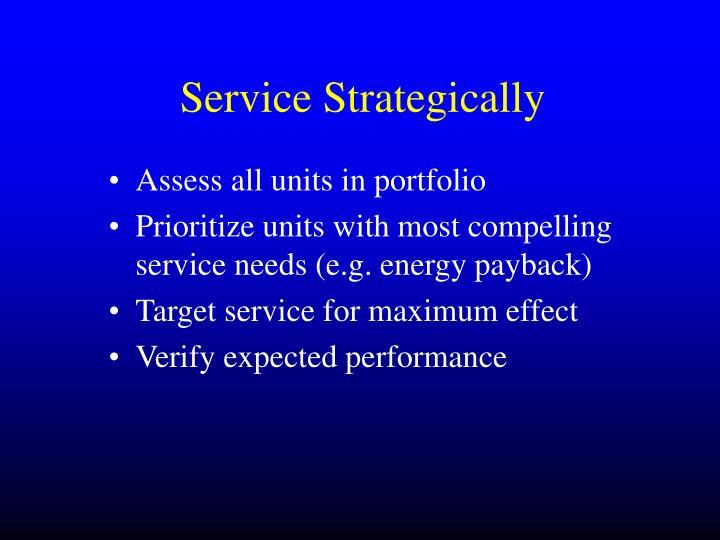 Service Strategically