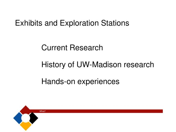 Exhibits and Exploration Stations