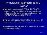 principles of standard setting process