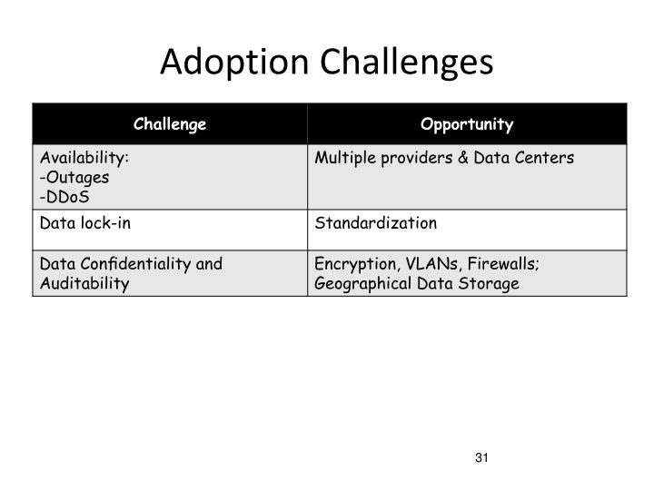 Adoption Challenges