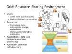 grid resource sharing environment