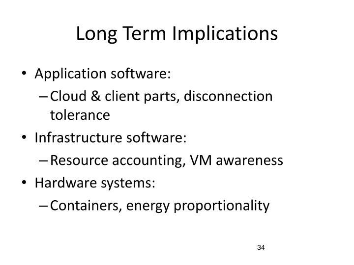 Long Term Implications
