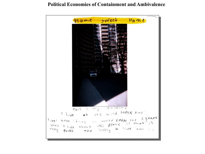 Political Economies of Containment and Ambivalence