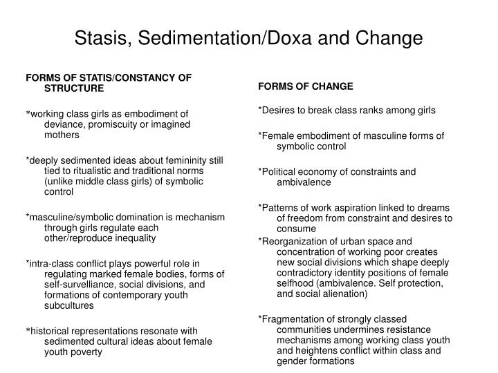 FORMS OF STATIS/CONSTANCY OF STRUCTURE