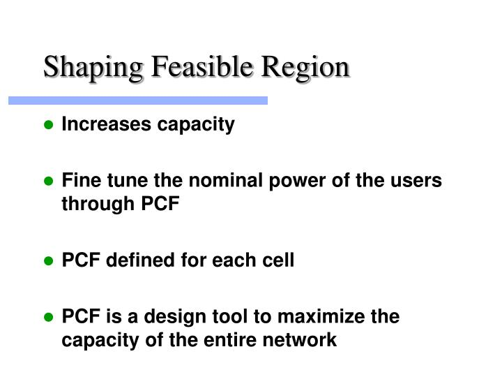 Shaping Feasible Region