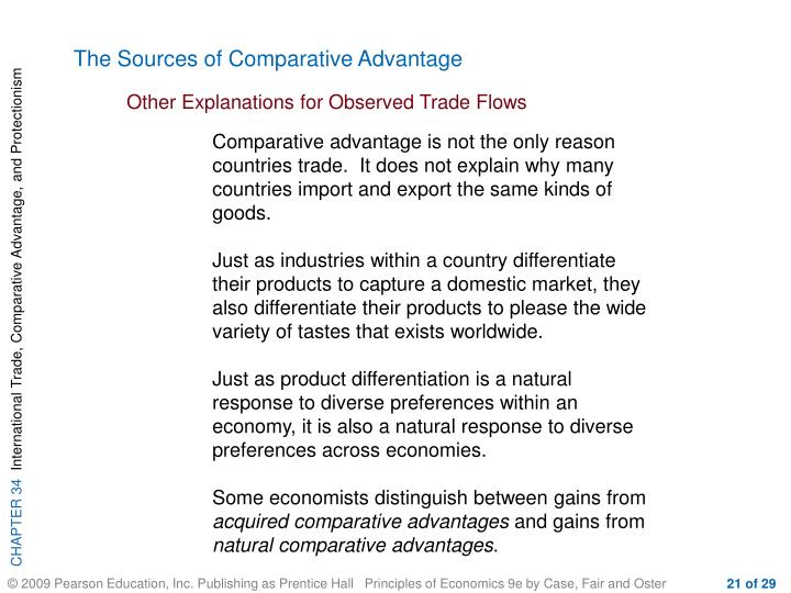 The Sources of Comparative Advantage